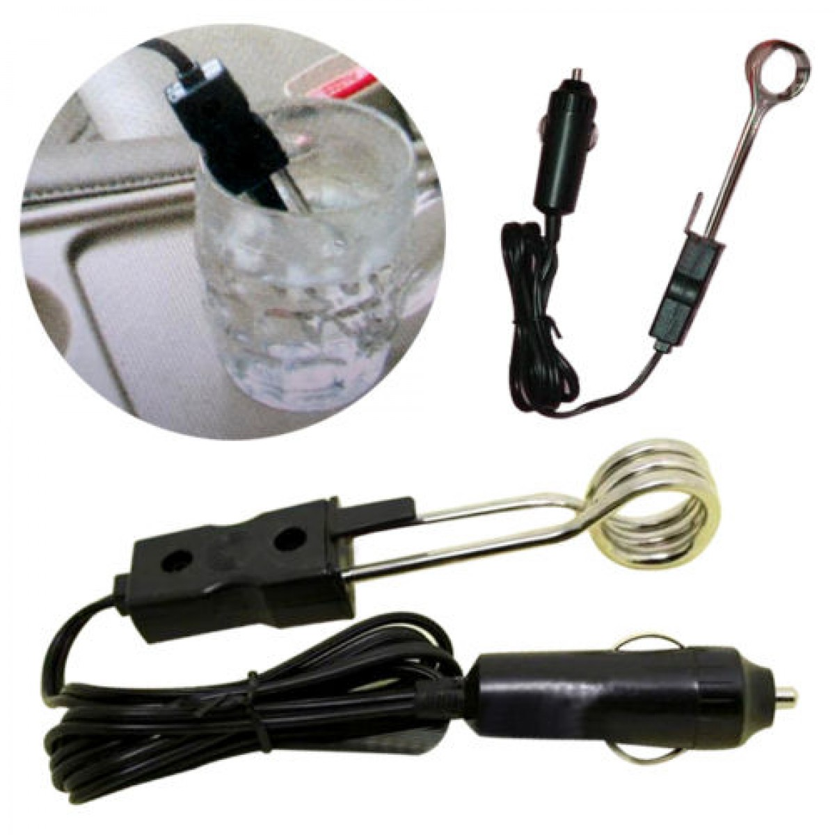 12v Car Immersion Heater Tea Coffee Water Auto Electric