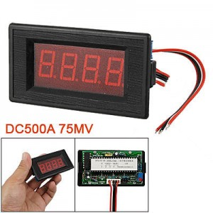 Voltage Amp LED Panel Meter DC 500A 75MV