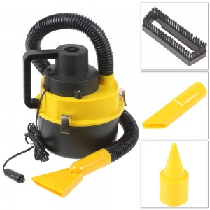Portable 12V Wet & Dry Auto Car Dust Vacuum Cleaner + Brush Crevice Nozzle Heads