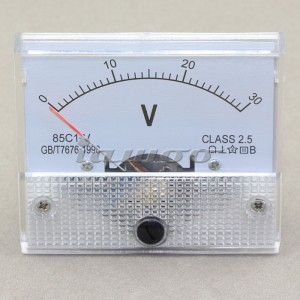 Voltage Meter Class 2.5 Pointer DC Panel Voltmeter