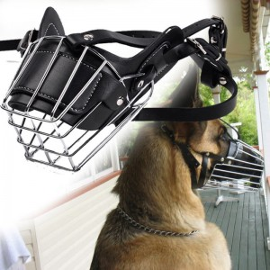 Adjustable Pet Dog Mask Bark Bite Metal