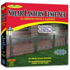 Garden Creations Solar Lantern Fence Set