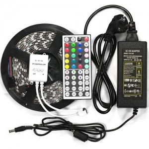 5M SMD RGB 5050  Strip light 300 LED + 44 Key IR Remote