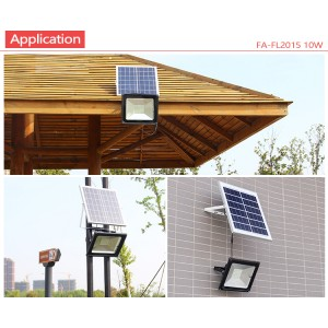 20W Solar Floodlight Home Outdoor Ultra Bright  Waterproof  with Remote Control for Rural Garden Decking Patio Lighting