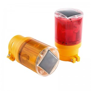 Red  or Yellow Solar Warning Light LED Boat Light Navigation Emergency Flash Light Boat Alarm Lamp For Traffic Road Warning