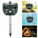 Solar Ultrasonic Animal Repeller Motion Sensor Activated Owl Shape Waterproof Pest Controller Repellent