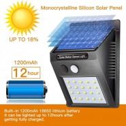 20 LED Waterproof IP65 Motion Sensor Wireless Solar Light Wall Yard Garden Lamp