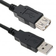 1.5m  USB2.0 A Male to A Female Extension Cable