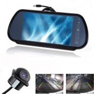 """Car 7"""" LCD TV/DVD Screen+Backup Reverse Rear View Parking Monitor & Camera kits"""