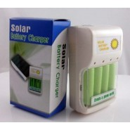 Solar Battery Charger 0.5W 4 pc AA/AAA GREEN POWER