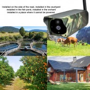 Solar Power Wifi IP Camera Wireless Remote Monitor Security Surveillance Camera (Camouflage)