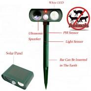 Ultrasonic Solar Power Pest Animal Repeller Repellent Garden