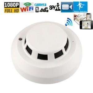 1080P HD WIFI night vision IR security mini camera DVR smoke detector Camera