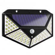 100LED solar wall light four-sided luminous solar light human body induction outdoor lighting garden light