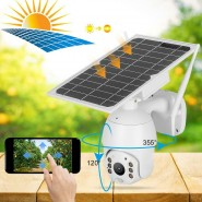 Smart 1080P Solar Energy WiFi Alert PTZ Camera IP66 Night Vision PIR CCTV Camera