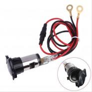 Aluminum Car Motorcycle 12V Cigarette Lighter Metal Power Socket Plug Outlet