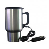 Stainless Steel 12V Car Auto Adapter HEATED Travel MUG THERMOS Heating Cup
