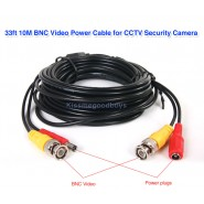10M BNC Video Power Cable for CCTV DVR Camera