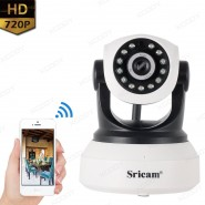 Sricam Remote View SP017 Wireless IP Camera 720P Wifi Pan / Tilt P2P