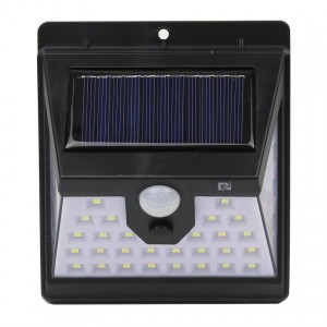 Super 40 LED Solar Security Light with 3 light activation modes — constant, sensor or both