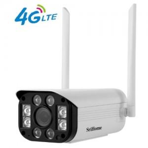 NEW SriHome 3MP SIM CARD  4G IP Camera Outdoor Waterproof CCTV