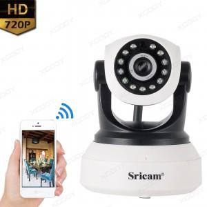 Sricam Remote View SP017 Wireless IP Camera 720P Wifi Pan / Tilt P2P