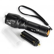 2000LM 5-Mode CREE XM-L T6 LED Silver Head Zoomable Flashlight