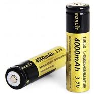 Boruit 1 PCS 4000mAh Rechargeable 18650 Battery Suitable for Headlamp Headlight Flashlight Torch