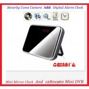 Mirror clock camera