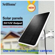 Solar Panel 5V/12V output us with Various  Outdoor Cameras