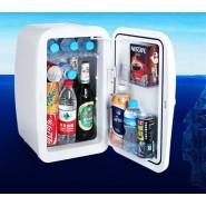 Portable White 20L Car Home Multi-purpose Mini Refrigerator Thermal