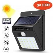 Solar Power 30 LED PIR Motion Sensor Wall Light
