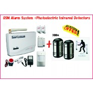 GSM Alarm System with With 100M Photoelectric Infrared Beams