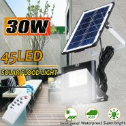 30W Solar Floodlight Home Outdoor Ultra Bright  Waterproof  with Remote Control for Rural Garden Decking Patio Lighting